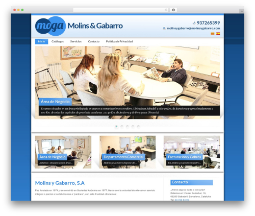 WordPress theme Modulo - molinsygabarro.com