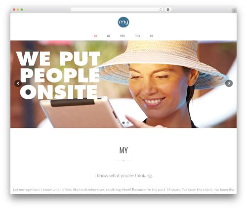 WordPress theme Vela - myagencysavannah.com