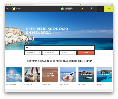 Best WordPress template Gantry Theme for WordPress - menorcaporuntubo.com