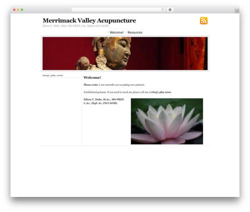 Bright massage WordPress theme - merrimackvalleyacupuncture.com
