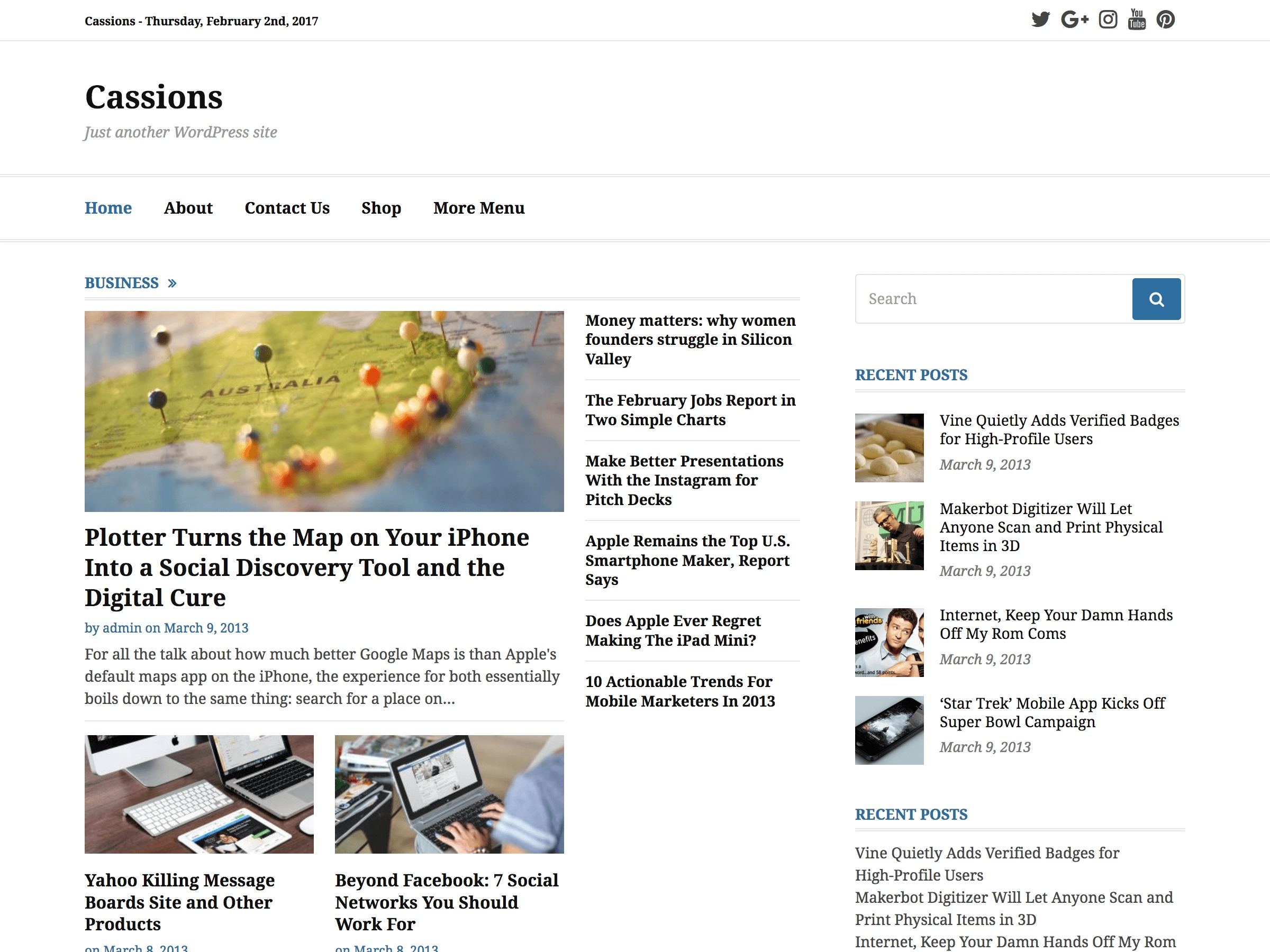 Cassions best WordPress magazine theme