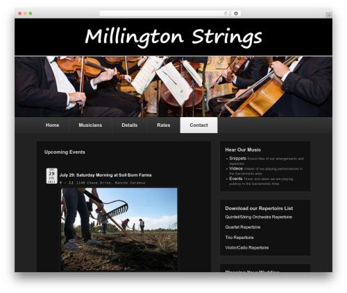 Catch Evolution template WordPress free - millingtonstrings.com