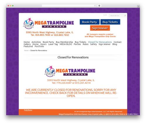 Chameleon WordPress page template - megatrampoline.com