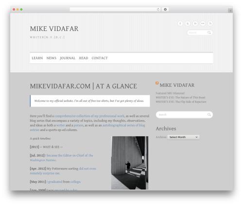 Clean Retina best WordPress theme - mikevidafar.com
