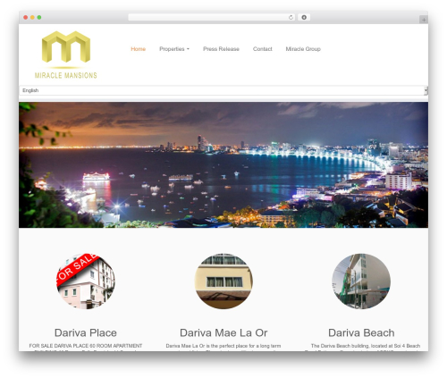 Customizr template WordPress free - miracle-mansions.com