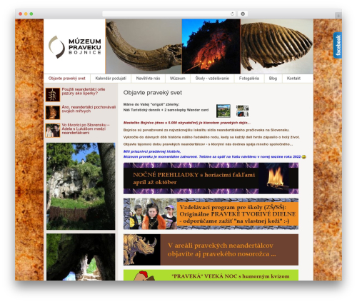 Dottoro WordPress theme design - muzeumpraveku.sk