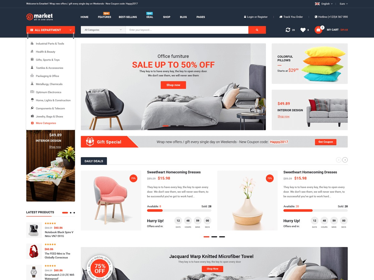 Emarket best WooCommerce theme