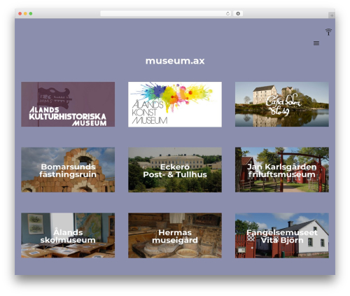 Engic WordPress theme - museum.ax