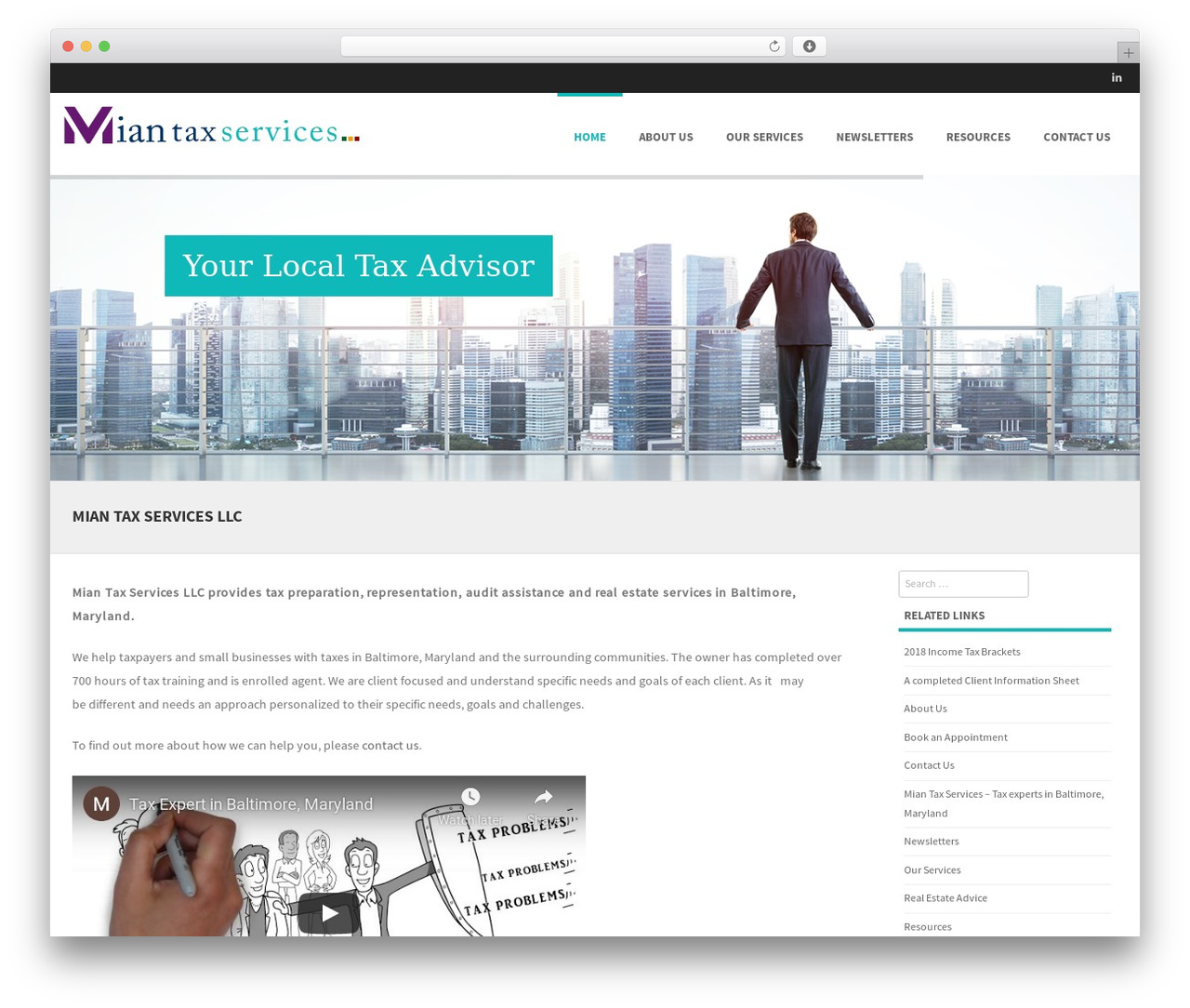 Formation free WordPress theme - myea.us