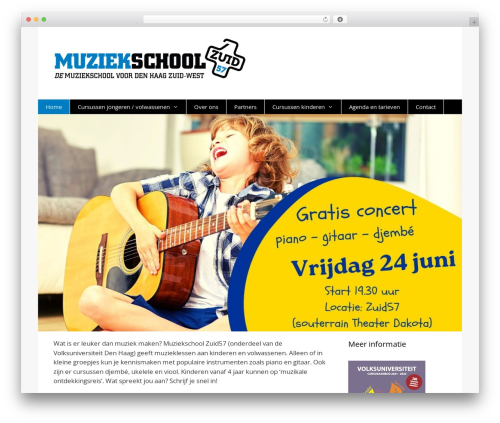 GeneratePress best free WordPress theme - muziekschoolzuid57.nl