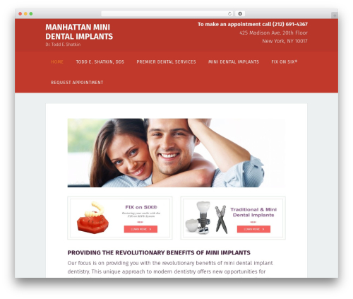 Genesis WordPress theme - manhattanminidentalimplants.com