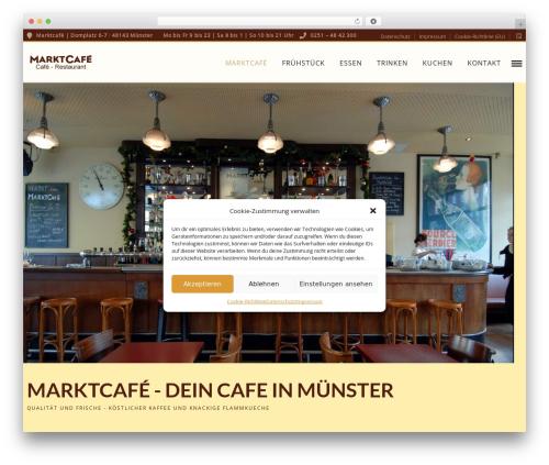 Grand Restaurant best restaurant WordPress theme - marktcafe-ms.de