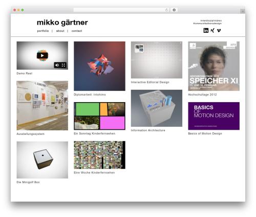 Grid Based Responsive WordPress Theme WordPress theme - mikkogaertner.com