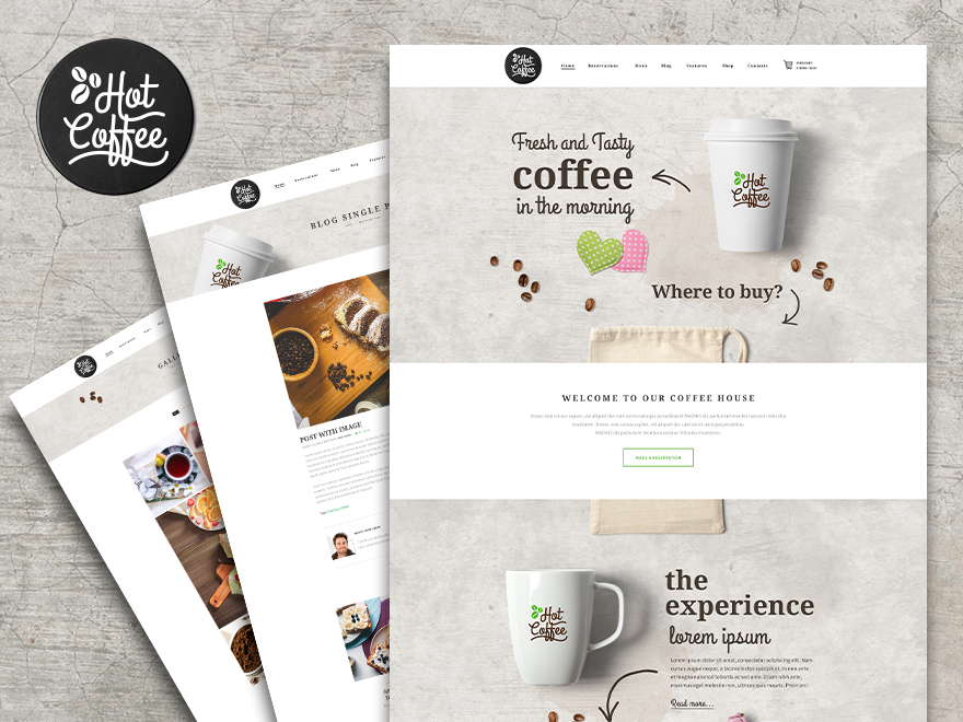 Hot Coffee premium WordPress theme