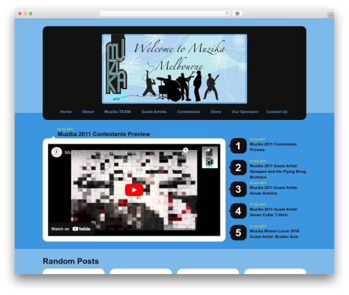Selecta WordPress theme - muzikamelbourne.com