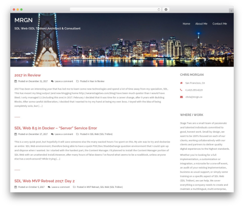 Sydney WordPress theme - mrgn.co