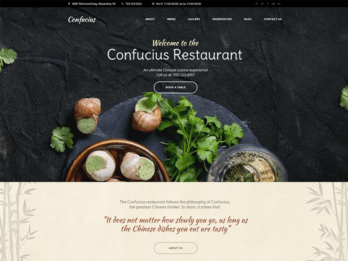 Template WordPress Confucius