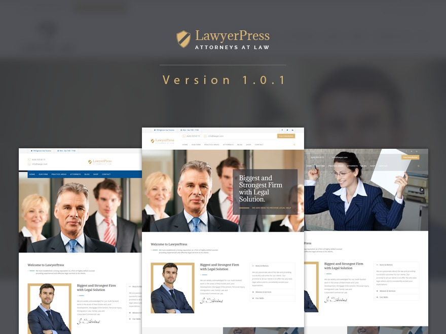 Template WordPress LawyerPress