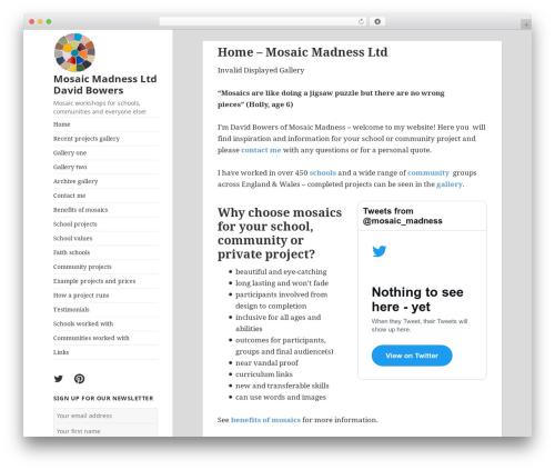 Twenty Fifteen WordPress theme free download - mosaic-madness.co.uk