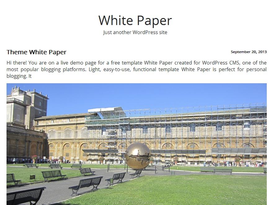White Paper -alt WordPress blog template