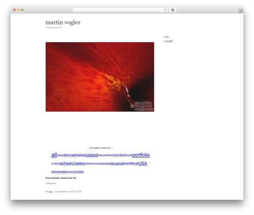 WordPress template Carrington Text - martinvogler.com