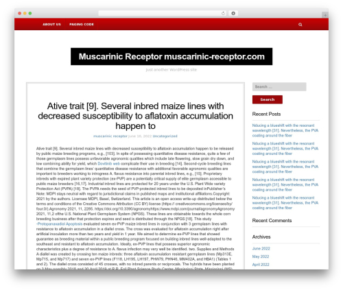 WordPress theme NewsBlog - muscarinic-receptor.com