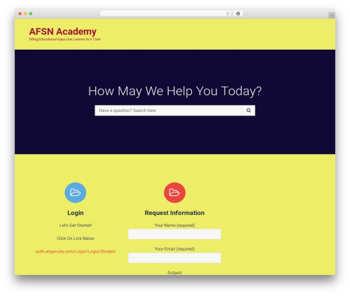 WordPress theme Tech Literacy - myafsn.com