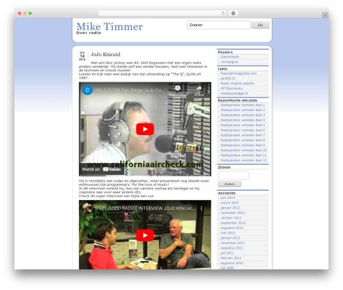 WordPress website template slight - miketimmer.nl