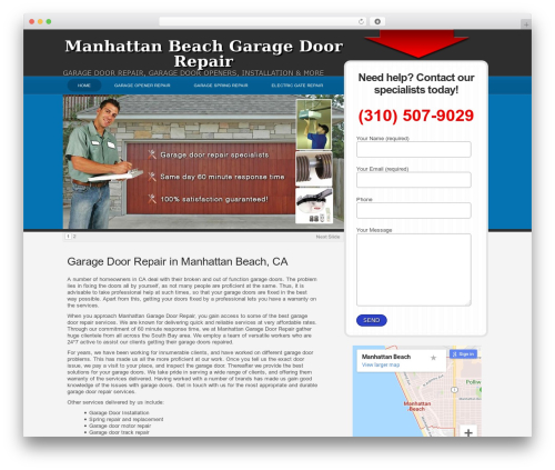 WPLeadPro WordPress theme - manhattanbeachgaragerepair.com