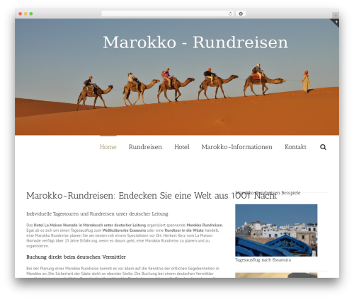 Avada WordPress theme - marokko-rundreisen.info