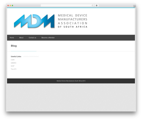 Clockwork WP medical WordPress theme - mdmsa.co.za