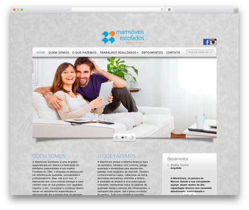 DeepFocus WordPress theme - marmoveisestofados.com.br