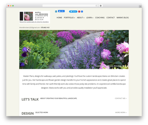 Flexible garden WordPress theme - mariavonbrincken.com