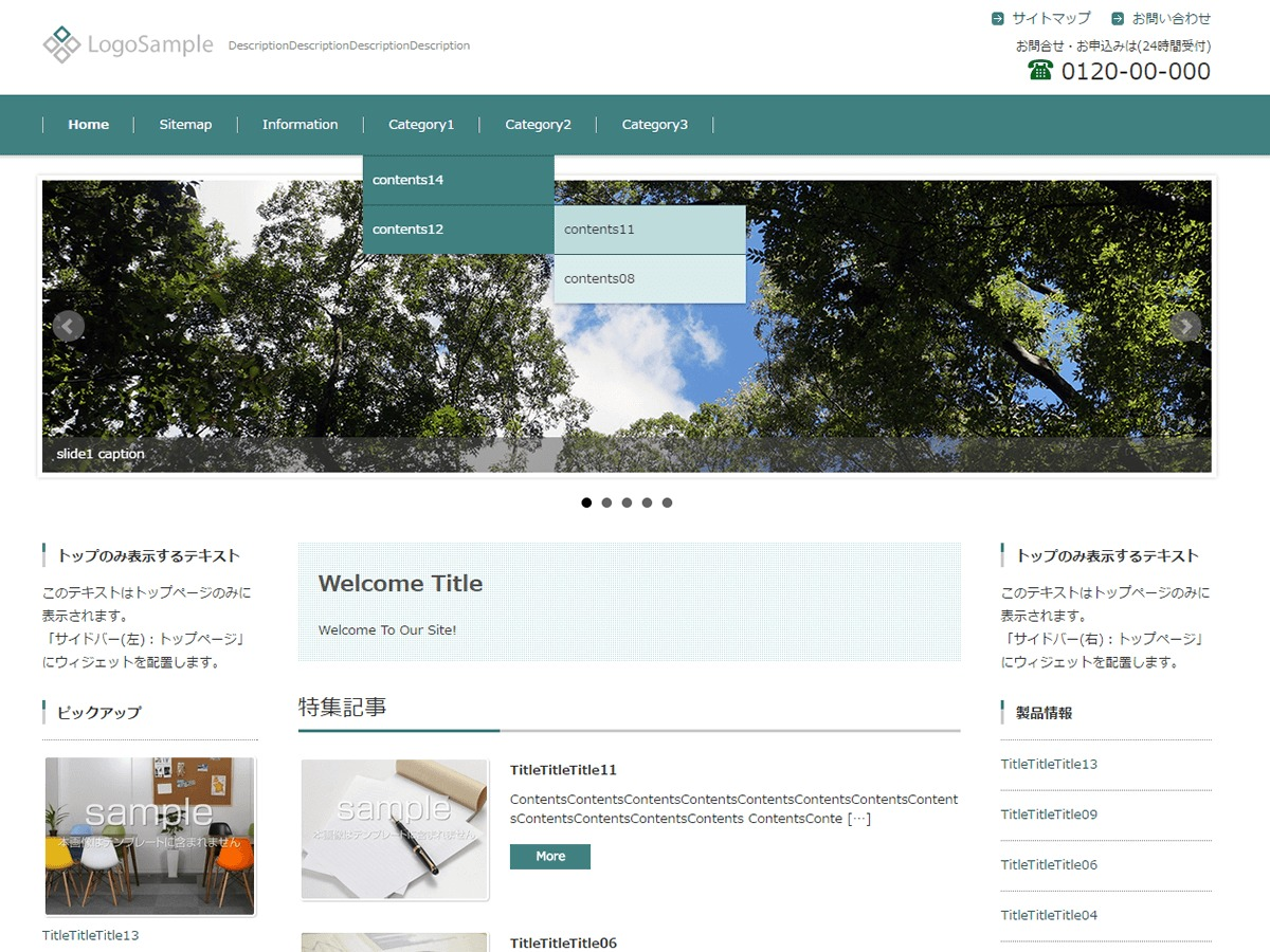 FSV BASIC CORPORATE GREEN business WordPress theme