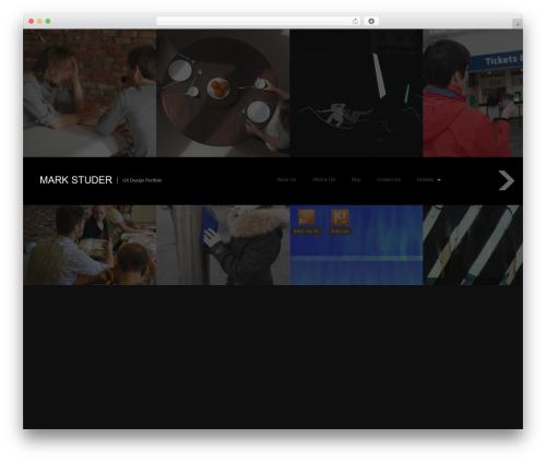 Fullscreen personal WordPress theme - markstuder.com