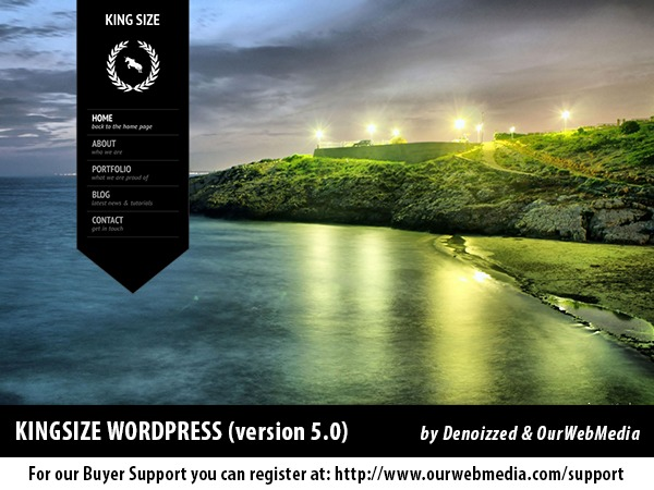 KingSize WordPress portfolio template