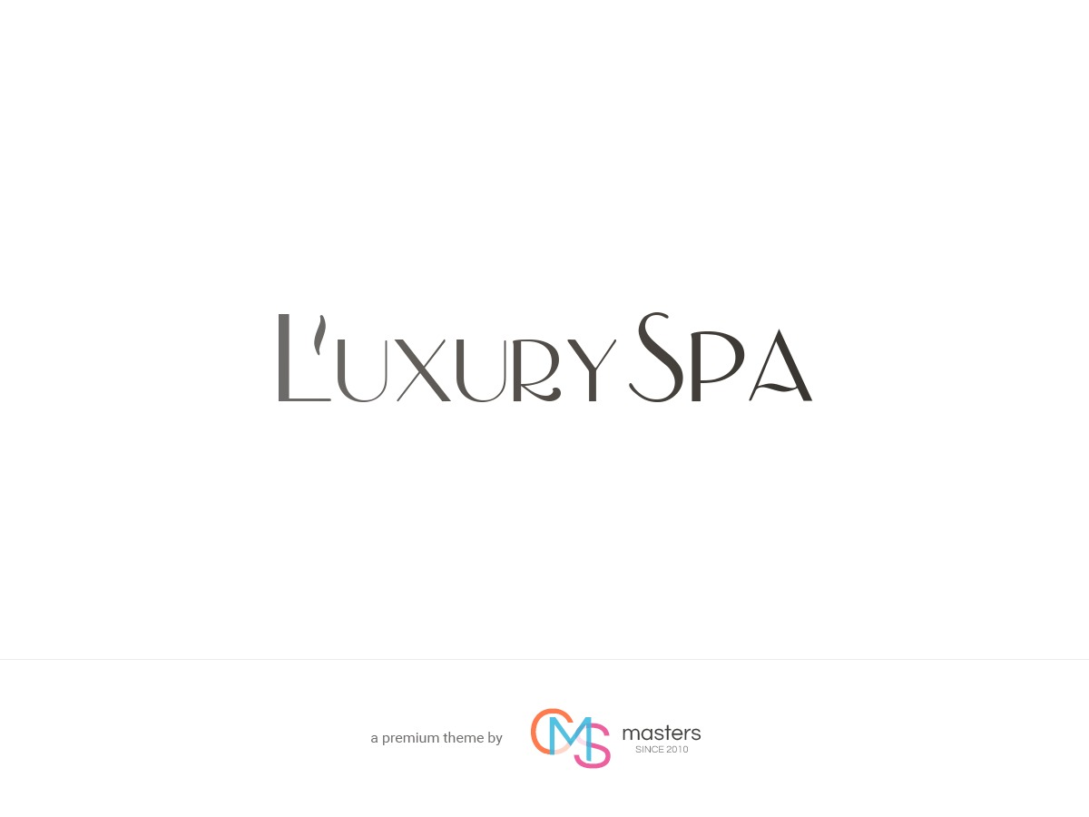 Luxury Spa WordPress portfolio template