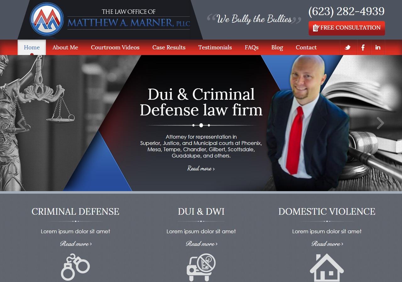 Matthew a Marner WordPress blog template