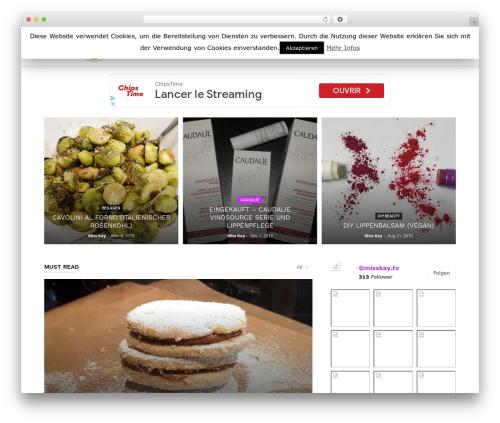 Newspaper WordPress news template - misskay.tv