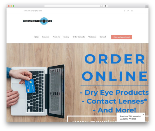 Optometry WP template - mountaineyecare.net