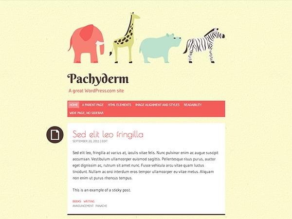 Pachyderm - WordPress.com WordPress blog template