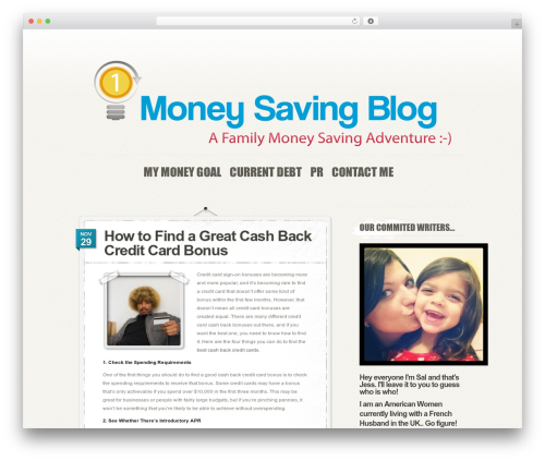 PersonalPress premium WordPress theme - moneysavingblog.org
