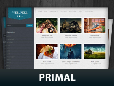 Primal top WordPress theme