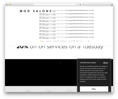Salient WordPress page template - modhairdressing.com