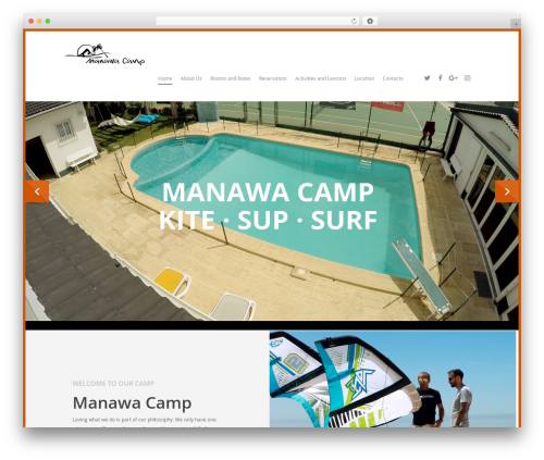 Salient WordPress theme - manawacamp.com