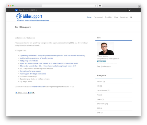 Theme WordPress THBusiness Pro - milasupport.dk