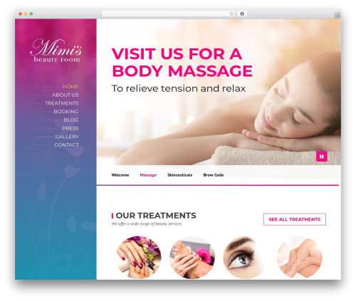 WordPress template BeautySpot - mimisbeautyroom.ie