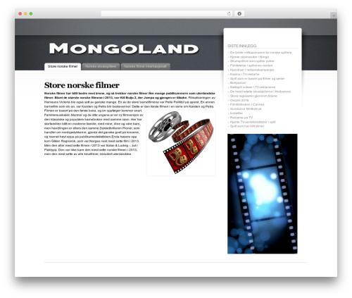 WordPress template Fusion - mongoland.net