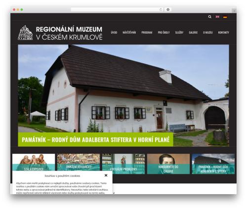 WordPress theme Metric - muzeumck.cz