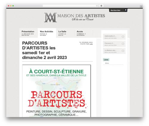 WordPress website template Handgloves - maisonartistes.be/v2